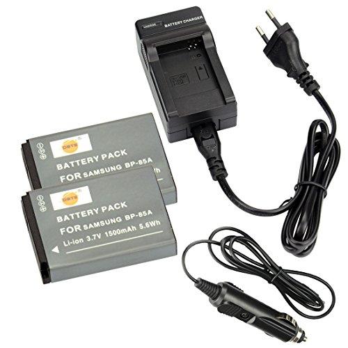 DSTE 2-Pieza Repuesto Batería y DC97E Viaje Cargador kit para Samsung BP-85A WB210 PL210 SH100 como Samsung BP85A EA-BP85A