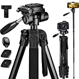 Victiv 72-inch Camera Tripod Aluminum Monopod T72 Max. Height 182 cm - Lightweight and Compact for...