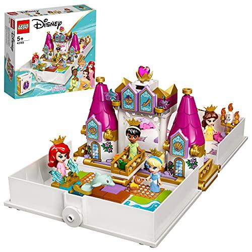 LEGO 43193 Disney Princess Ariel, Belle, Cinderella and Tiana's Storybook...