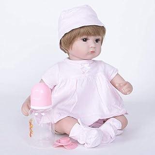 Lalka Rebirth Zabawka Lalka Symulacja Lalka Silikonowa 42 cm Brązowe Oczy, Lalki Reborn