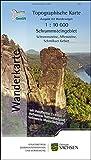 Schrammsteingebiet 1:10000 Wanderkarte des Landschaftsschutzgebietes Sächsische Schweiz WK10 SG . Nationalpark. Elbsandsteingebirge.