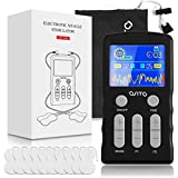 Dual Channel TENS Unit Machine (F.D.A.- Cleared) OSITO Muscle Stimulator with 25 Modes 50 Intensities for Full Body Massage Therapy, Rechargeable Muscle Massager with 10 Medical Electrodes Pads