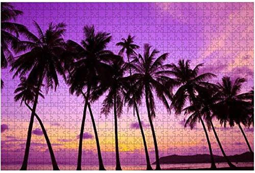 Aruba Beach,color morado,puesta de sol,1000 piezas,rompecabezas para adultos,juguetes educativos para adultos,niños,grandes juegos de rompecabezas,juguetes,regalo-PUZZLE8