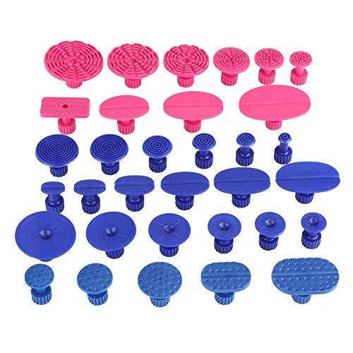 33 Uds lengüetas de tracción adecuadas para lavadora de motocicletas herramientas de reparación de abolladuras sin pintura instrumento de coche rojo + azul