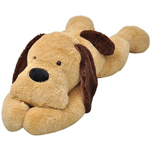 vidaXL Perro de Peluche Blando Marrón Grande 160 cm Perrito