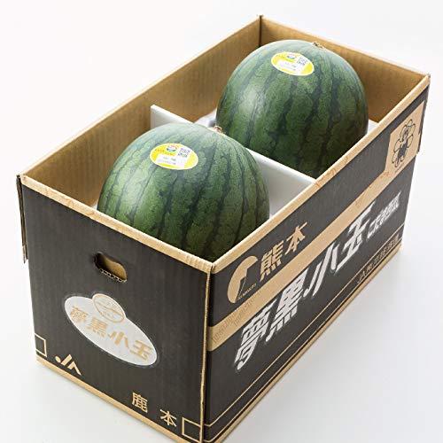 すいか 夢黒小玉すいか 優品 4Lサイズ 2玉入り 約6kg 熊本県産 JA鹿本 スイカ 西瓜