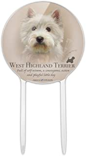GRAPHICS & MORE Acrylic West Highland Terrier Westie Dog Breed Cake Topper Party Decoration for Wedding Anniversary Birthday Graduation