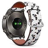 Compatible con Huawei Watch 2 Classic - Correa de Reloj de Cuero con pasadores de liberación rápida (Camiseta de Marinero Scottish Terrier)