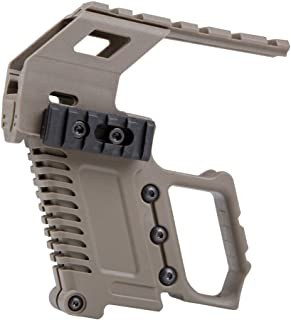 Tactical Area Pistol Toy Carbine Kit Mount W/Rail Panel ABS for G17 G18 G19 GBB Series Loading Accessories