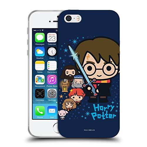 Head Case Designs Oficial Harry Potter Personajes Deathly Hallows I Carcasa de Gel de Silicona Compatible con Apple iPhone 5 / iPhone 5s / iPhone SE 2016