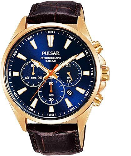 【セット商品】[パルサー] セイコー SEIKO パルサー PULSAR クロノグラフ腕時計 PT3A44X1 &マイクロファイバークロス 13×13cm付き[並行輸入品]