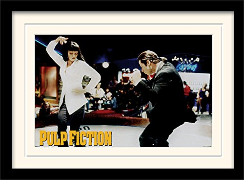 Pyramid International Pulp Fiction (Dance) 30x40 cm montiert und gerahmt, Mounted 250GSM PAPERWRAP MDF, Mehrfarbig, 44 x 33 x 4 cm