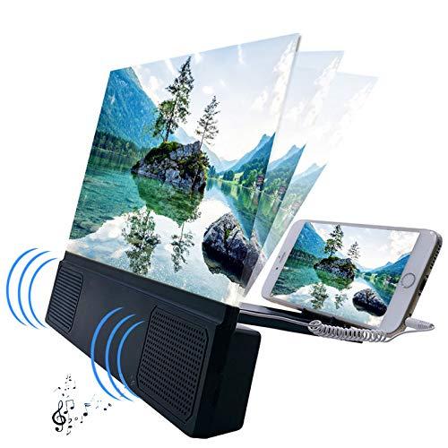"""EZSMART 12\"""" luz Anti-Azul Lupa de Pantalla de teléfono, 3D HD Ajustable ángulo teléfono proyector Amplificador, Amplificador de Pantalla de teléfono con Soporte Plegable para películas, Videos Juegos"""