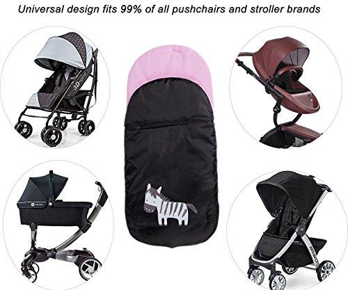 Saco de invierno dormir t/érmico para carrito cochecitos silla de beb/é universal abrigo polar Cubrepiernas Impermeable para Beb/é Rosado