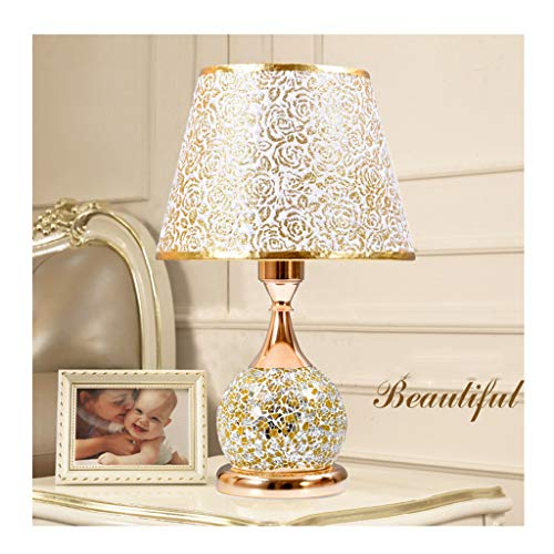 Lampe de table F Lampe de table de haute qualité style européen mariage romantique chambre lit de comptoir de lumière (Couleur : A)