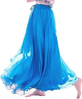 [小駿 SYOU SHUN TIYAN] ロング スカート シフォン ハイウエスト ふんわり 純色 柔らか マキシスカート シフォン フレア シンプル スカート ロング