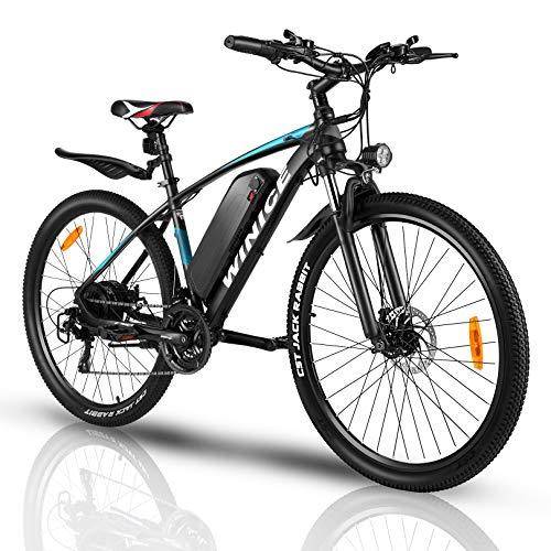 VIVI Bicicleta Eléctrica 350 W, Bicicleta Eléctrica de Montaña con Batería Extraíble 36 V/10,4 Ah, Velocidad Máxima 32 km/h, 21 Velocidades, Kilometraje de Recarga hasta 50 km, 27.5 Pulgad