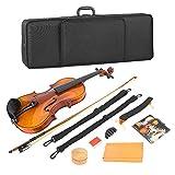 初心者のプロの家族の友人のための無臭無害防食シンプルスプルースバイオリン、木製バイオリン