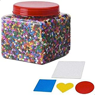 Pyssla Beads Toy 14000Pcs, with 4 Template for beads.