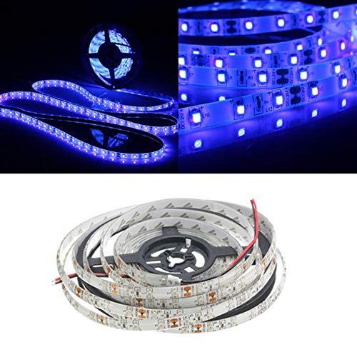 LED-Lichtleiste Familie DC 12V 0.5/1/2/3/4/5 M SMD3528 Lila Wasserdichte LED-Streifen-Licht-Schwarzlicht for Indoor Outdoor (Größe : 2M)