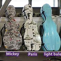 高袋チェロ形状のバイオリンケース4/4 3/4バイオリンケースカーボンファイバーVH-04との効果的なバイオリンハードケースのコスト,パリ