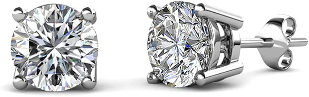 TriJewels AGS Certified Diamond Max 58% OFF Solitaire Earrings Stud Complete Free Shipping I2-I3