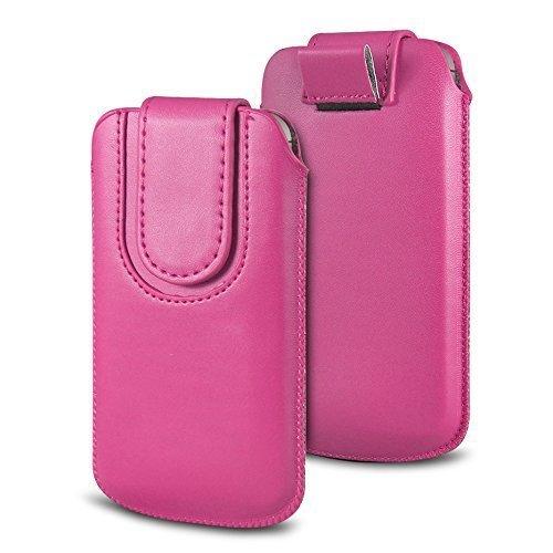 N4U Online Various Farbig Magnetisch PU Leder Zug Kippen Tab Schutzhüllen Tasche für Doogee F3 Pro - Hot Pink
