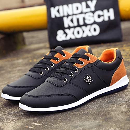 LOVDRAM Chaussures Hommes Autumn New Men's Casual chaussures Fashion Wild Fashion baskets Low to Help with Round Head Men's chaussures