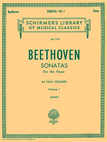 Beethoven: Sonatas for the Piano, Volume I (Schirmer's Library of Musical Classics): Schirmer Library of Classics Volume 1769 Piano Solo
