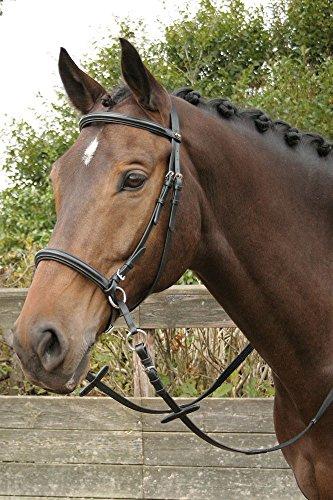 Harry\'s Horse Hoofdstel Bitloos Kaakgekruist, zwart, Größe:cob