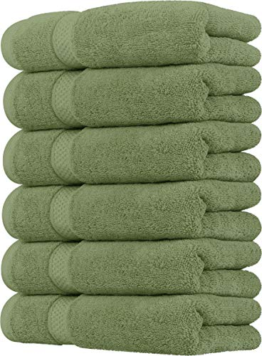 Utopia Towels Premium Sage Green Hand Towels - 100% Combed Ring Spun Cotton, Ultra Soft, Highly Absorbent, 700 GSM Exrta Large Thick Hand Towels 16 x 28 inches,Hotel & Spa Quality Hand Towels (6-Pack)