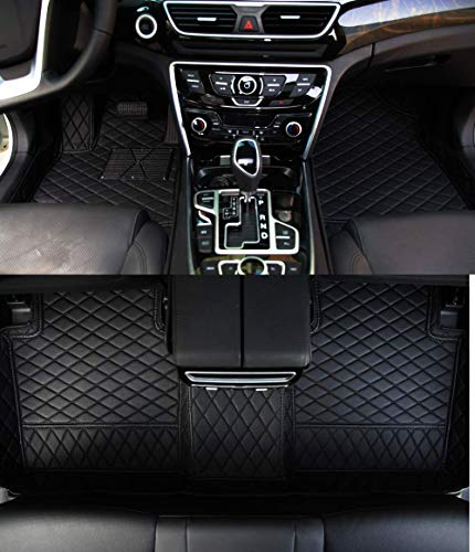 Worth-Mats Weatherbeater Liner 4 Season All Weather Floor Mat Custom fit 2007-2018 Mercedes G Class G350 G500 G550 G55 G63 G65 (Black with Black Stitching)