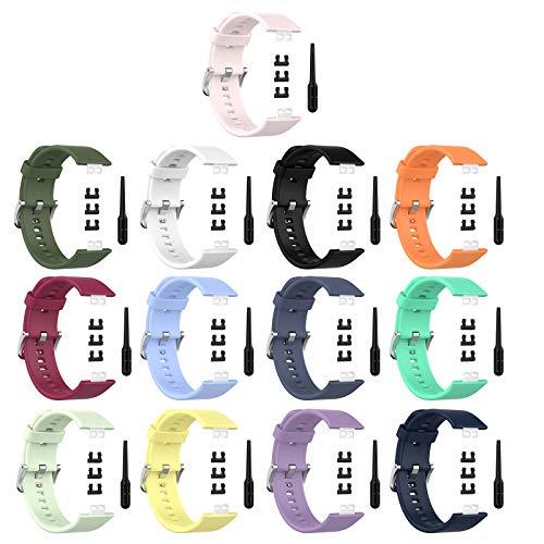 Edinber Correa de silicona para reloj deportivo compatible con HUAWEI Watch, suave y transpirable, correa de repuesto para muñeca, accesorios para reloj inteligente