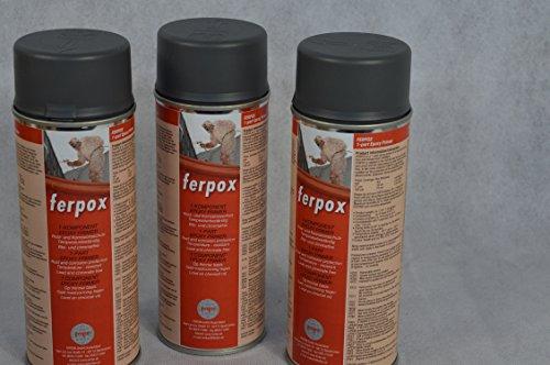 3 X FERTAN Ferpox 1-Komponent Epoxy Primer 400 ml Sprühdose KFZ PKW Restaurieren Werterhalten