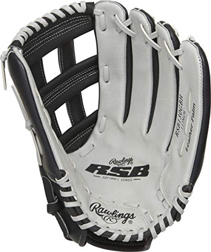Rawlings Softball Series Glove, Pro H Web, 13 inch, Right Hand Throw, RSB130GBH-6/0,Black/Gray