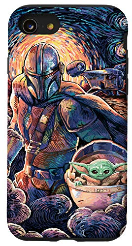 iPhone SE (2020) / 7 / 8 Star Wars: The Mandalorian & The Child Starry Night Style Case