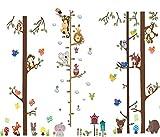 Bosque Animales Árbol Vinilos Decorativos,Búho Zorro Ciervo Adhesivos Pared,Animales de la Jungla Adhesivos Pared,Decorativas Adhesiva Pared Dormitorio Salón Guardería Habitación Infantiles Niños