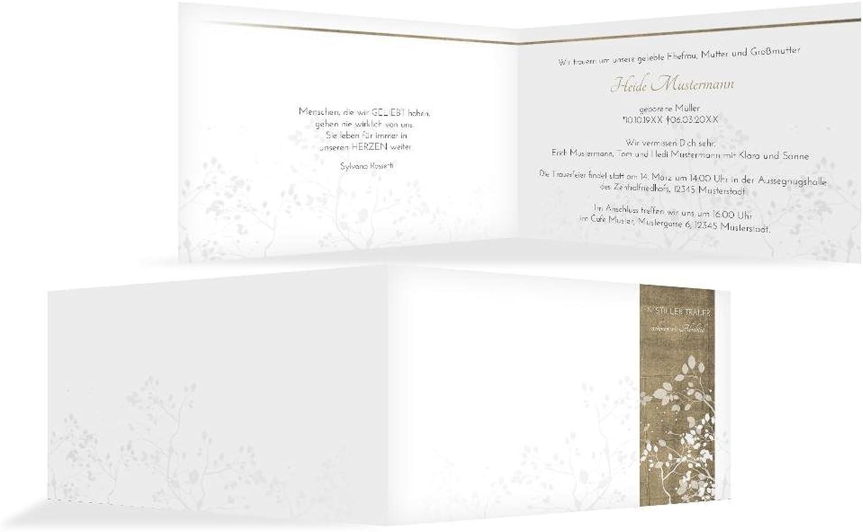 Weitere Weitere Weitere Anlässe   Trauerkarte Blätter quer   20 Karten (format  170.00x114.00mm) Farbe  Braun B078BNPJ5N   Spielzeugwelt, glücklich und grenzenlos  4fff63