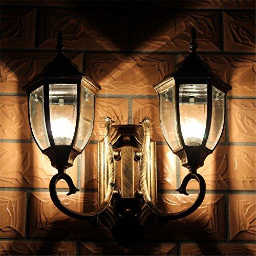 YU-K Chambre Simple Vintage wall lamp creative living salle à manger chambre lumières lumières allée extérieure lampe murale en aluminium double étanche allée balcon Jardin rouille lampe murale wall lamp road wall lamp (43 * 40 cm)
