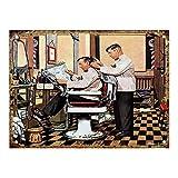 Barber Shop Cartel de chapa vintage, cartel de cartel de metal, placa de pintura de hierro retro, decoración de pared artística, 12 × 8 pulgadas