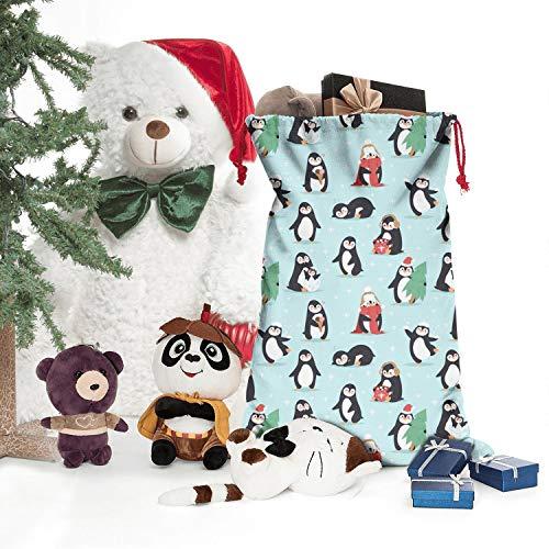 Christmas Lovely Penguins Santa for Poke Festival Adornment Gift Stylish Large