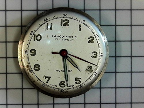 lanco Matic 17Rubis Watch Reloj de Repuesto de 1232incabloc Swiss Vintage Nos