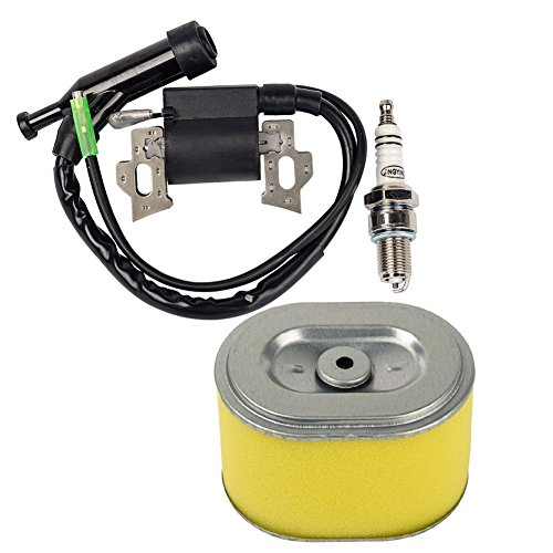 OuyFilters Bobine d'allumage de rechange avec bougie d'allumage filtre à air pour Honda Gx140 Gx160 Gx200 5.5hp 6.5hp moteur générateur tondeuse à gazon moteur
