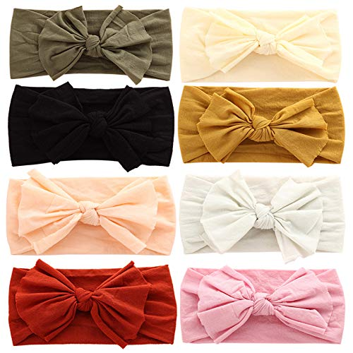 Baby Girl Headbands Newborn Infant Toddler Hairbands and Bows Child Hair Accessories (ZM17-8PCS)