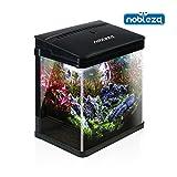 Nobleza - Aquarium en Verre avec Couvercle et lumières LED. Système de Filtration de 7 litres. Couleur Noir.