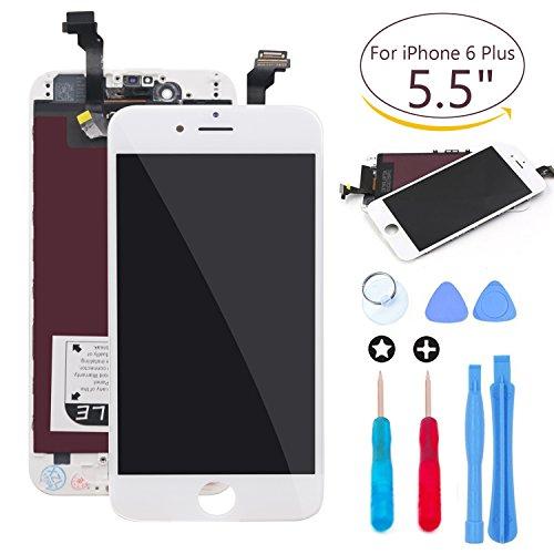 Ibaye Ersatz-Touchscreen für iPhone 6Plus 14cm (5,5 Zoll), Digitizer, mit Werkzeug-Sets A1522, A1524, A1593, Weiß