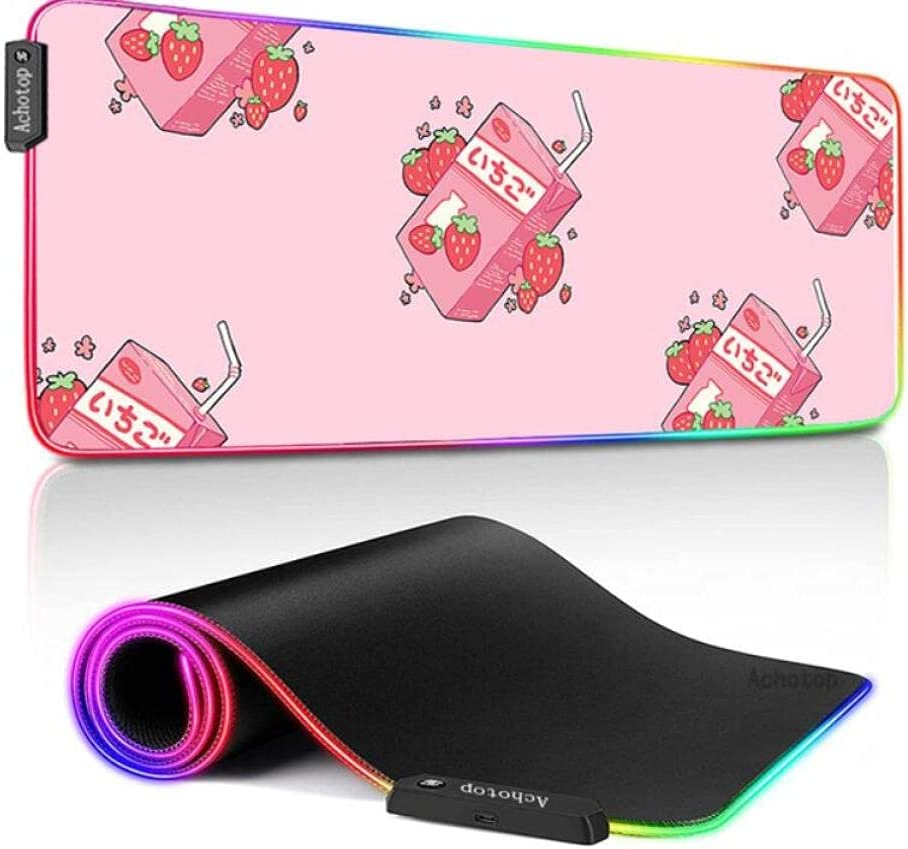 Mouse Pads Strawberry Milk RGB Pad Gamer Rubber Gaming XXL Popular brand in Free shipping / New the world