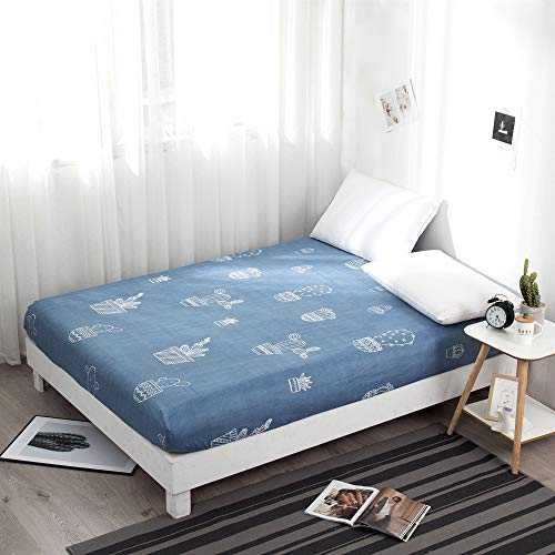 DUJUN 360° Fully Enclosed Protective Cover,Dust Proof bed Cover, Mattress Cover (Multiple Colors and Sizes), Skin friendly and Easy to Care Non-slip bed cover A6 90 * 190+15cm