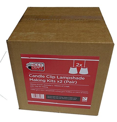 Needcraft Lampenschirm-Bastelset für Kerzen, 2 Stück (Paar)