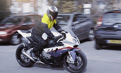 "JET Chaqueta de moto para hombre, impermeable, con blindaje CE (Fluro, grande (40"" - 42"")"
